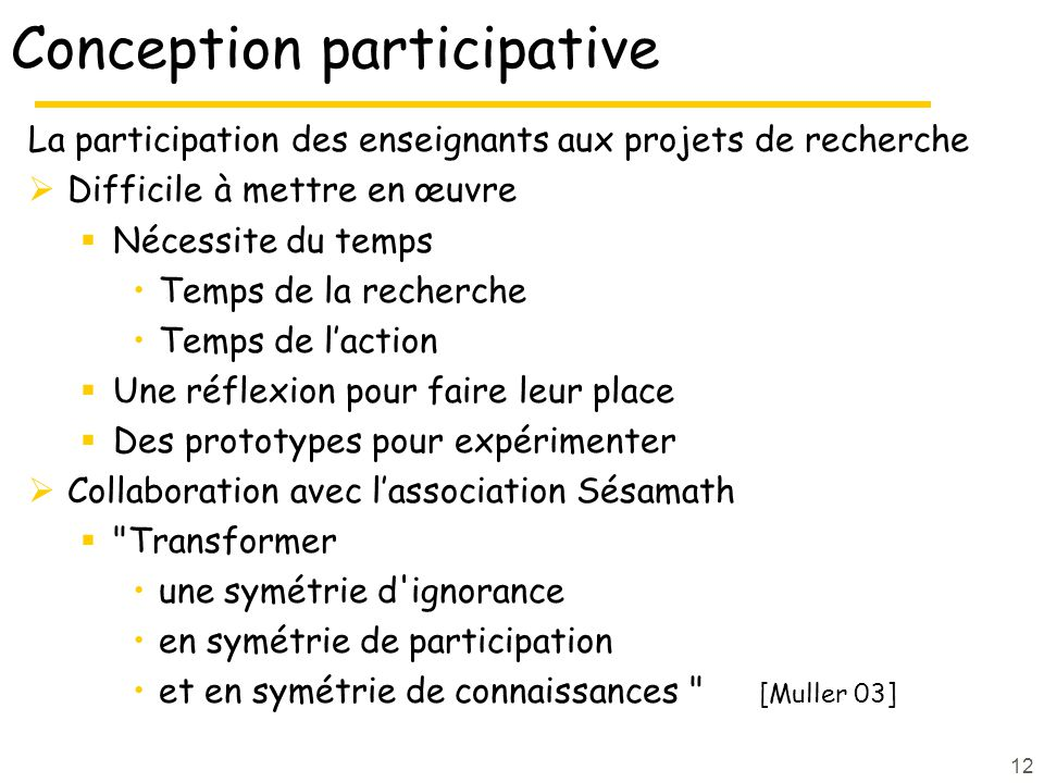 Conception participative