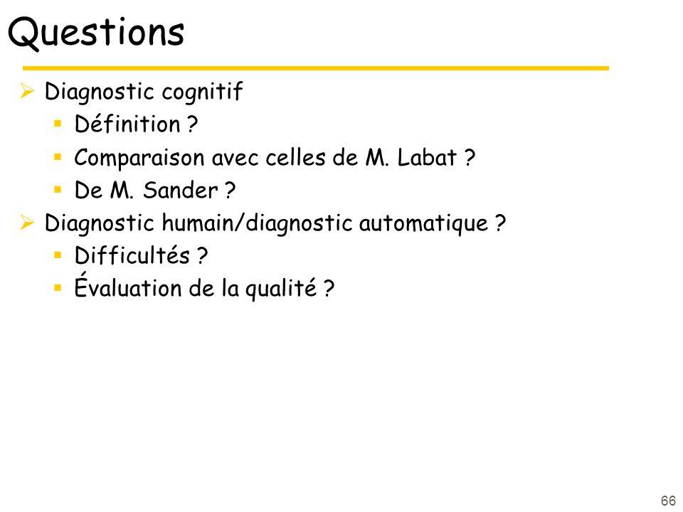 Questions Diagnostic cognitif Définition