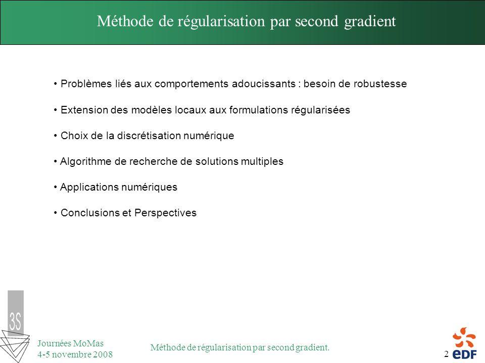Méthode de régularisation par second gradient