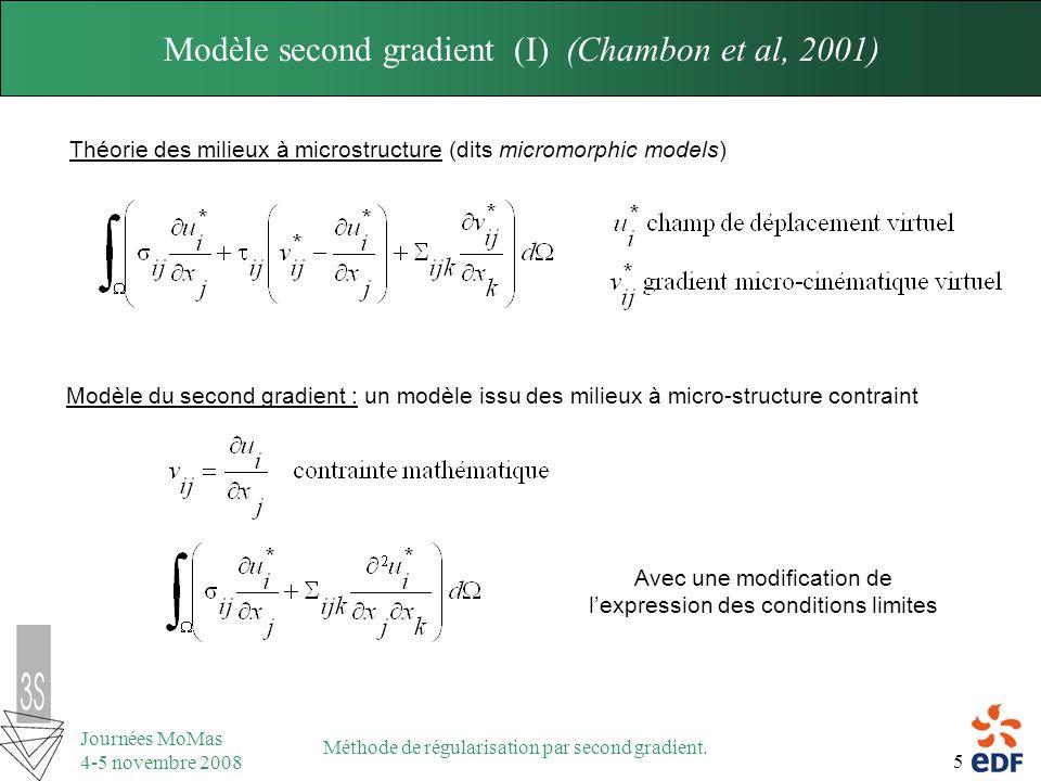 Modèle second gradient (I) (Chambon et al, 2001)