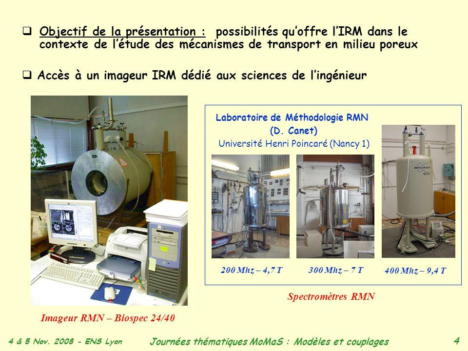 Accès à un imageur IRM dédié aux sciences de l'ingénieur