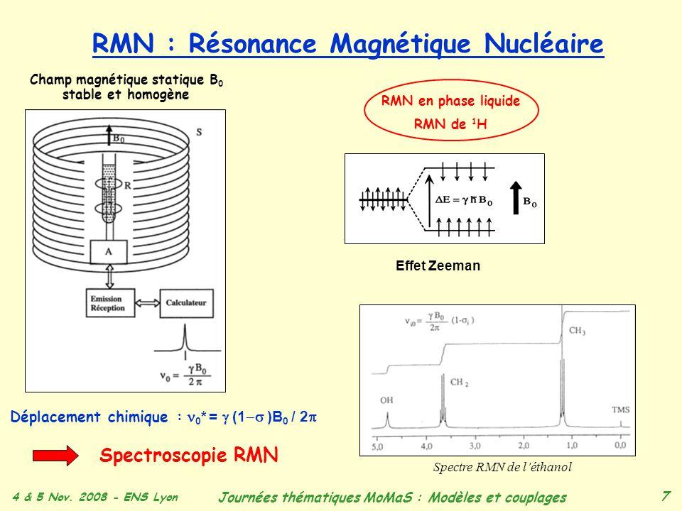 RMN : Résonance Magnétique Nucléaire