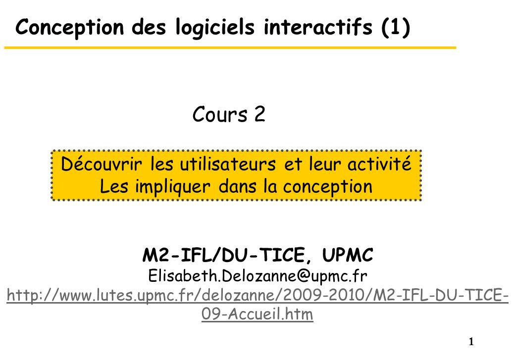 Conception des logiciels interactifs (1)