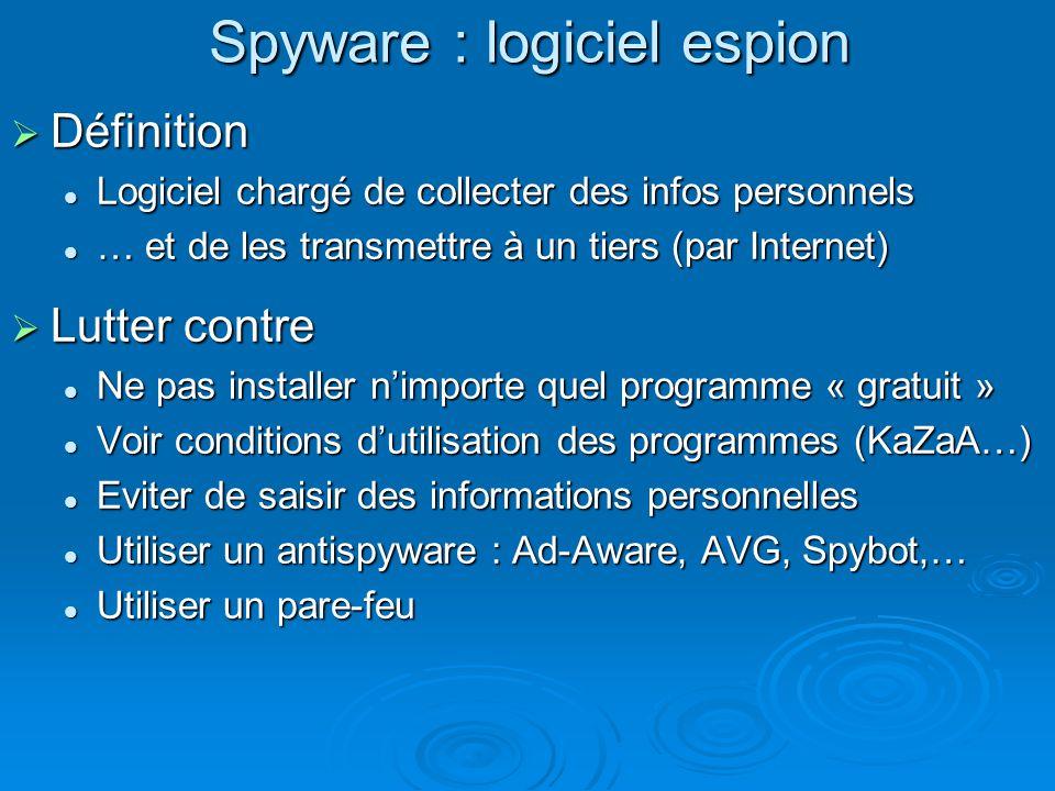 Spyware : logiciel espion