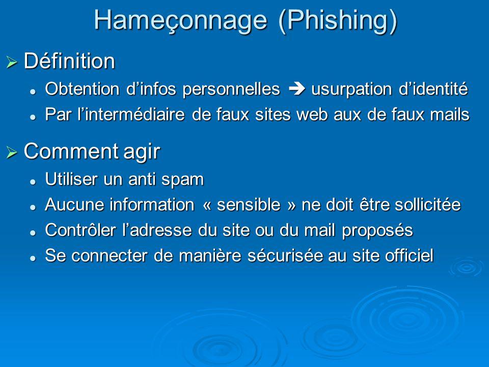 Hameçonnage (Phishing)