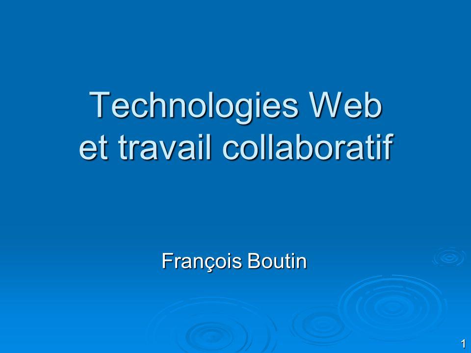 Technologies Web et travail collaboratif