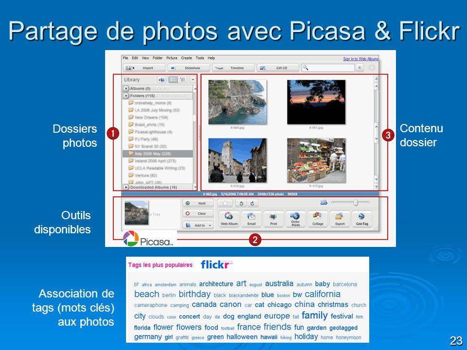 Partage de photos avec Picasa & Flickr
