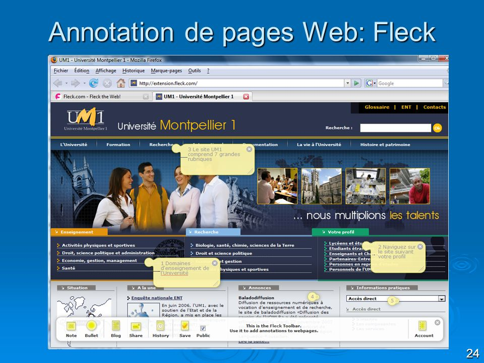 Annotation de pages Web: Fleck