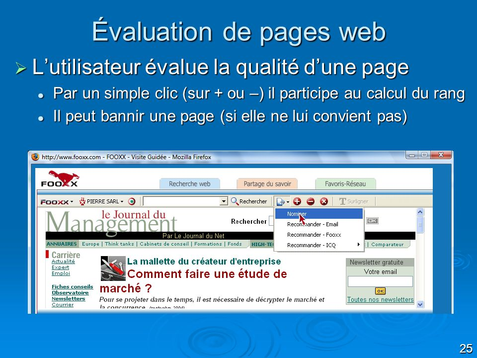 Évaluation de pages web