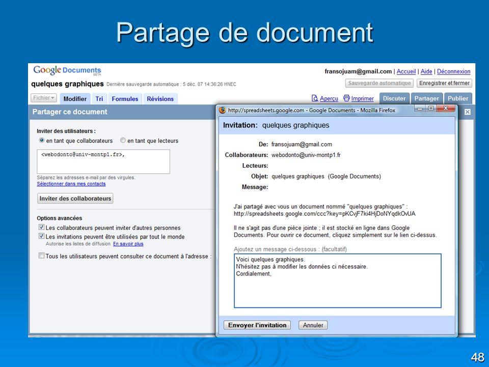 Partage de document