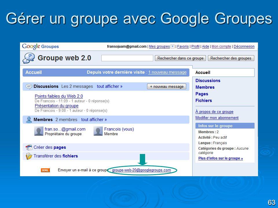 Gérer un groupe avec Google Groupes