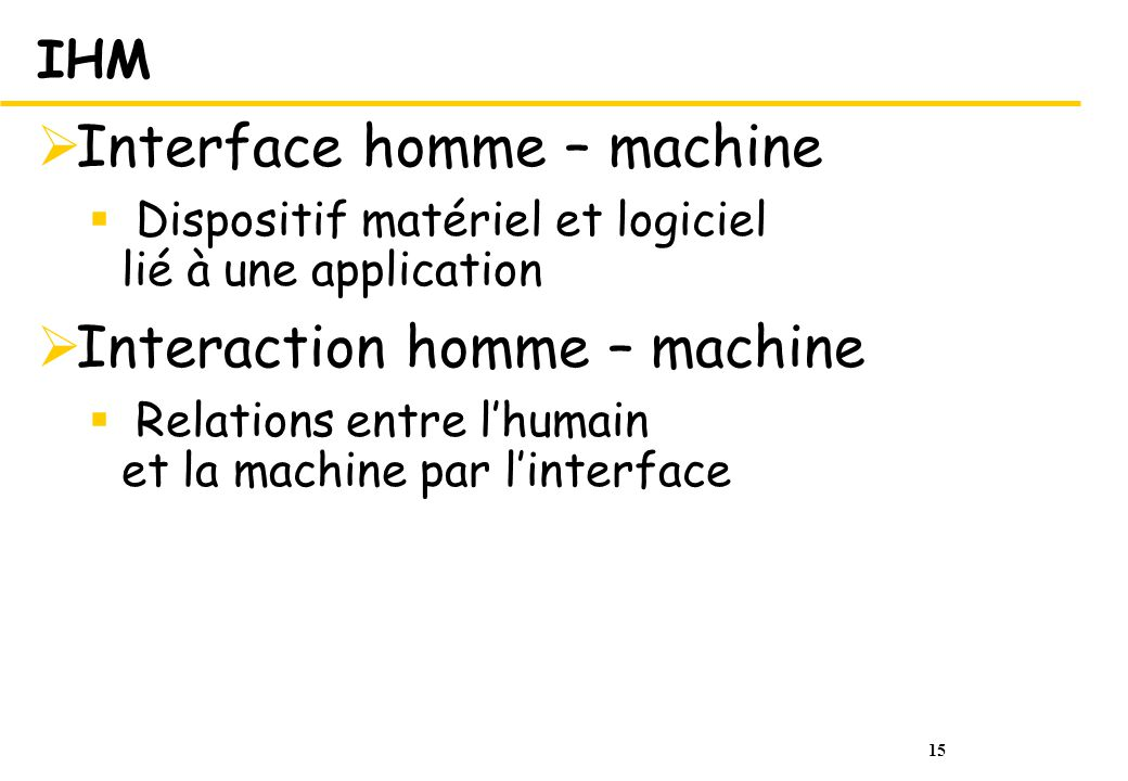 Interface homme – machine