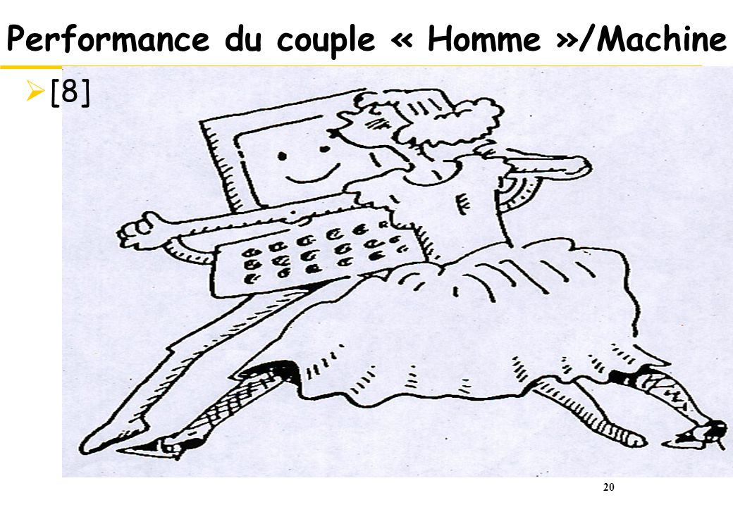 Performance du couple « Homme »/Machine