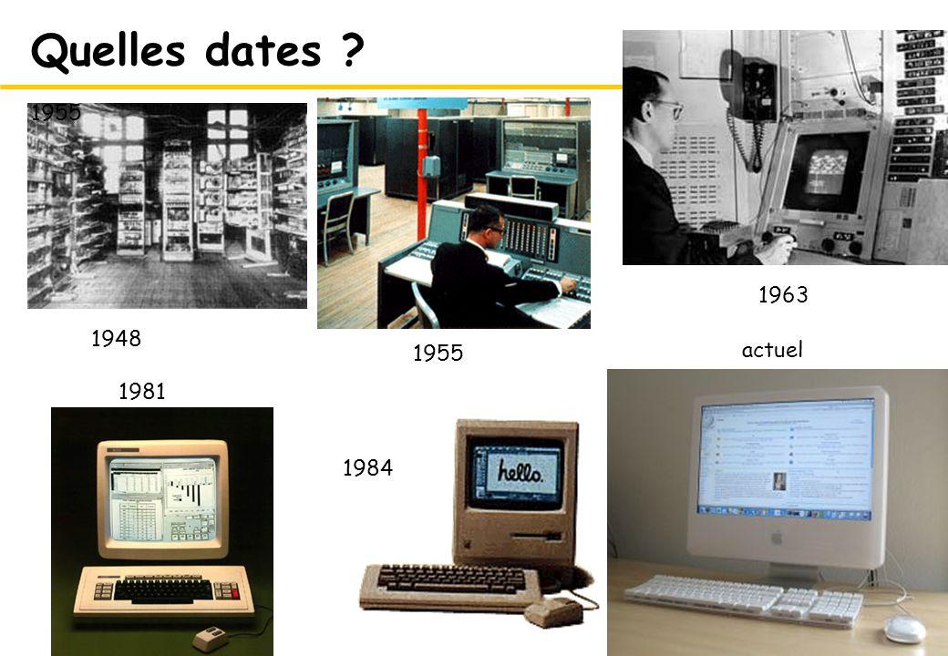 Quelles dates 1955 1963 1948 actuel 1955 1981 1984