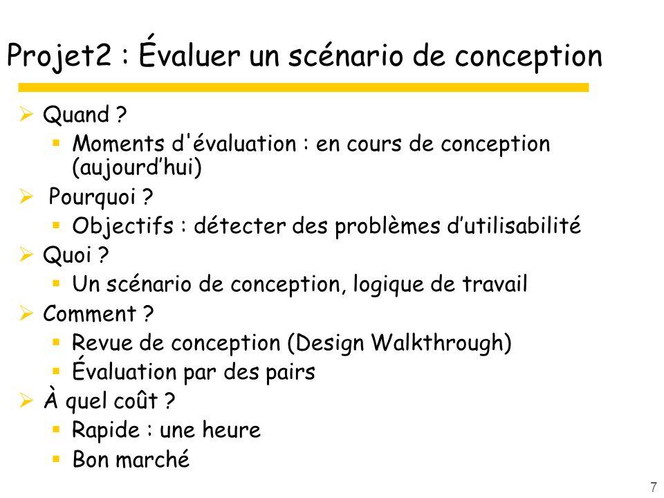 Projet2 : Évaluer un scénario de conception