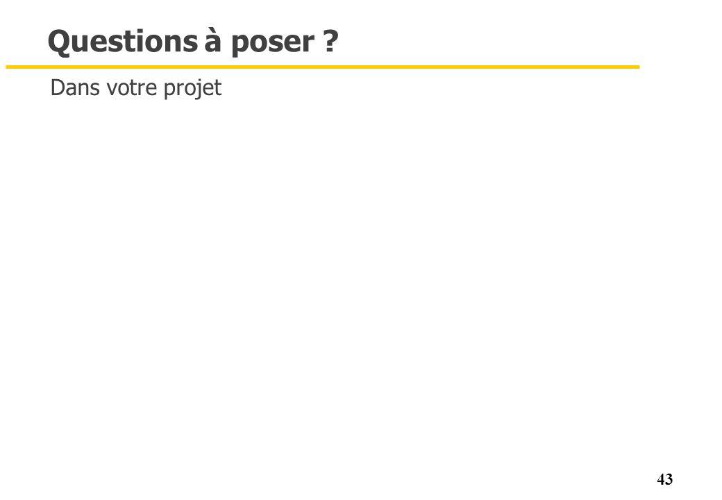 Questions à poser Dans votre projet