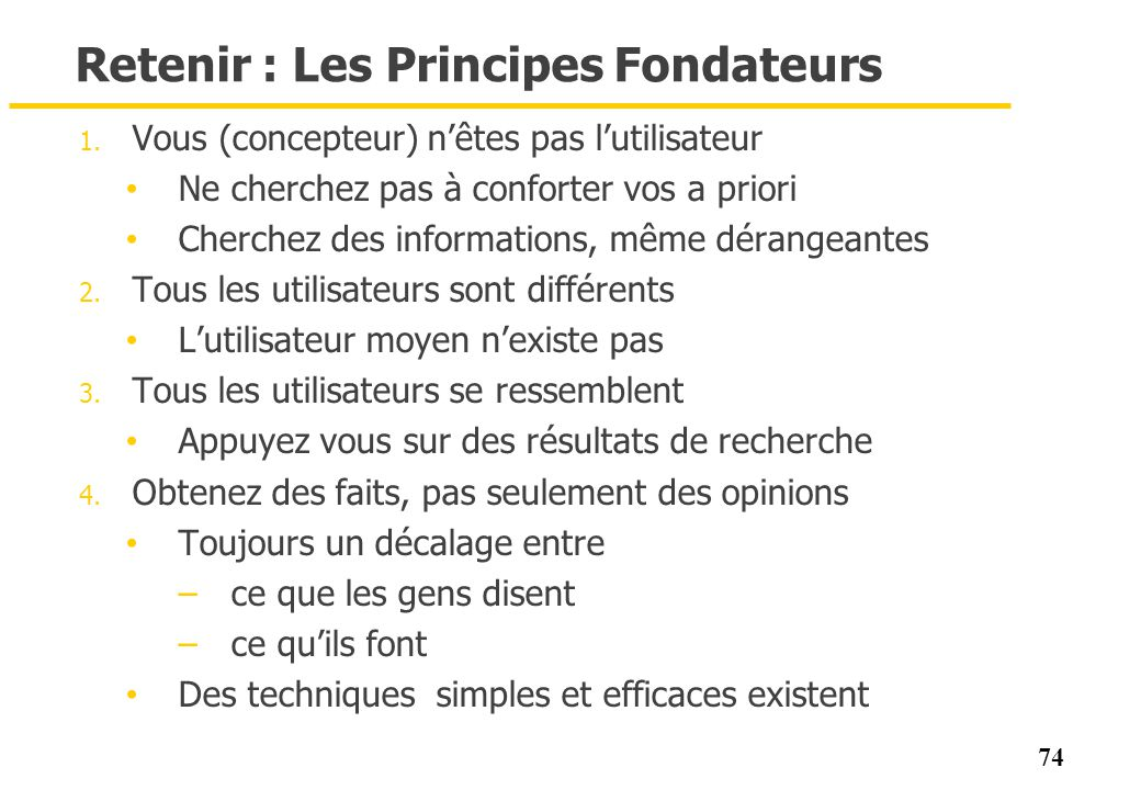 Retenir : Les Principes Fondateurs