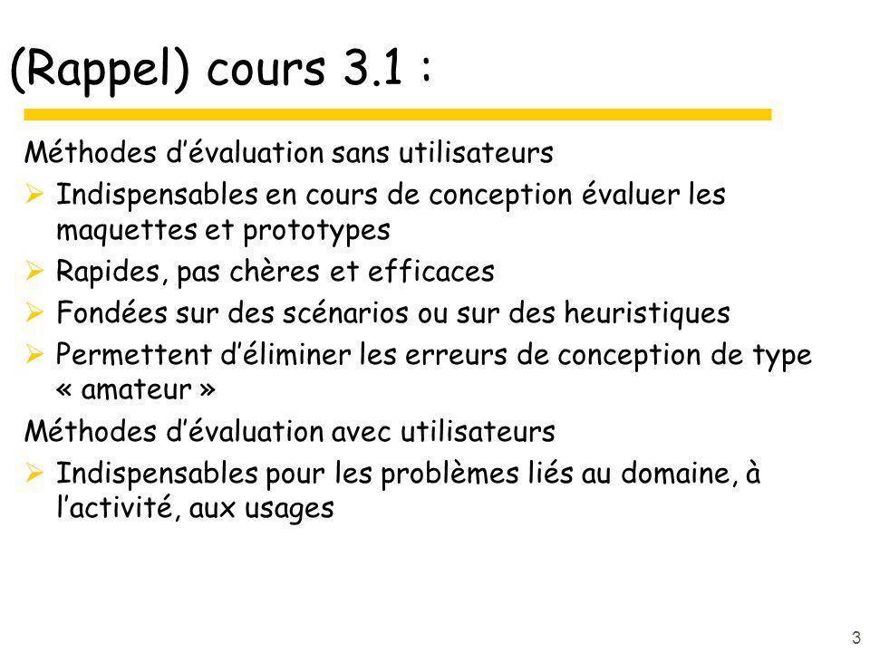 (Rappel) cours 3.1 : Méthodes d'évaluation sans utilisateurs