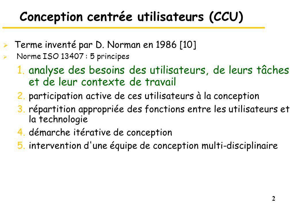 Conception centrée utilisateurs (CCU)