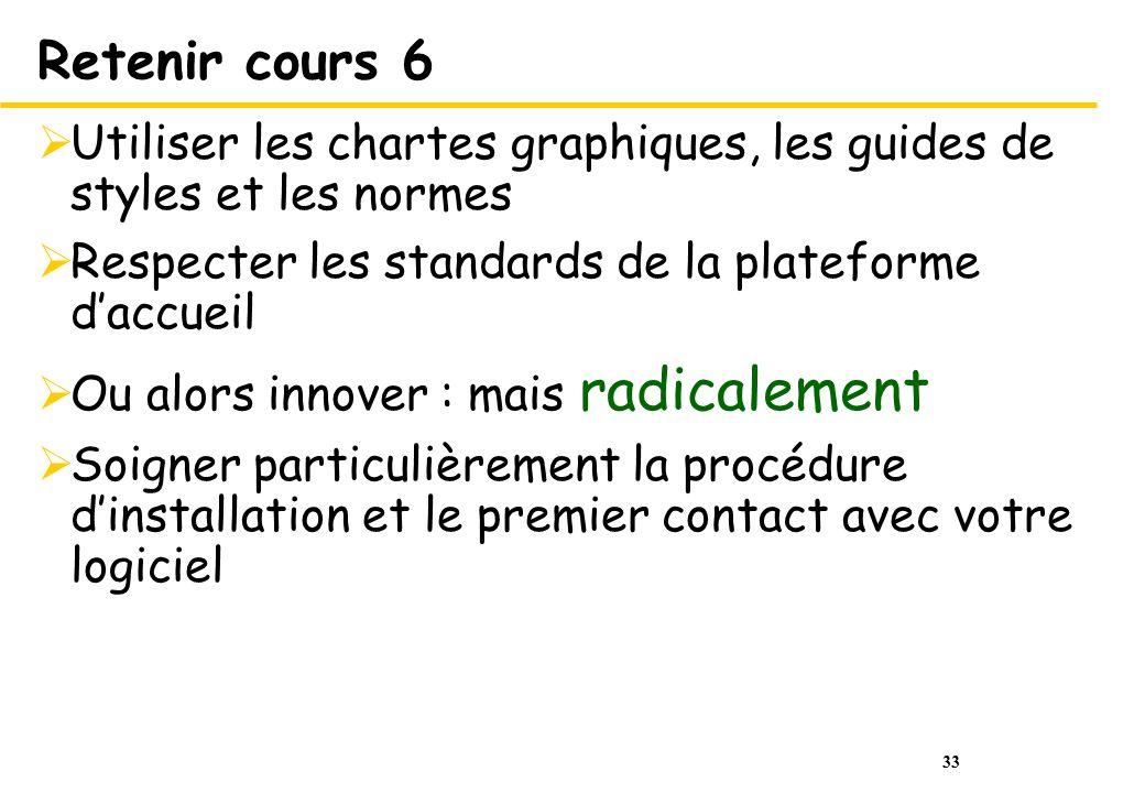 Retenir cours 6 Utiliser les chartes graphiques, les guides de styles et les normes. Respecter les standards de la plateforme d'accueil.