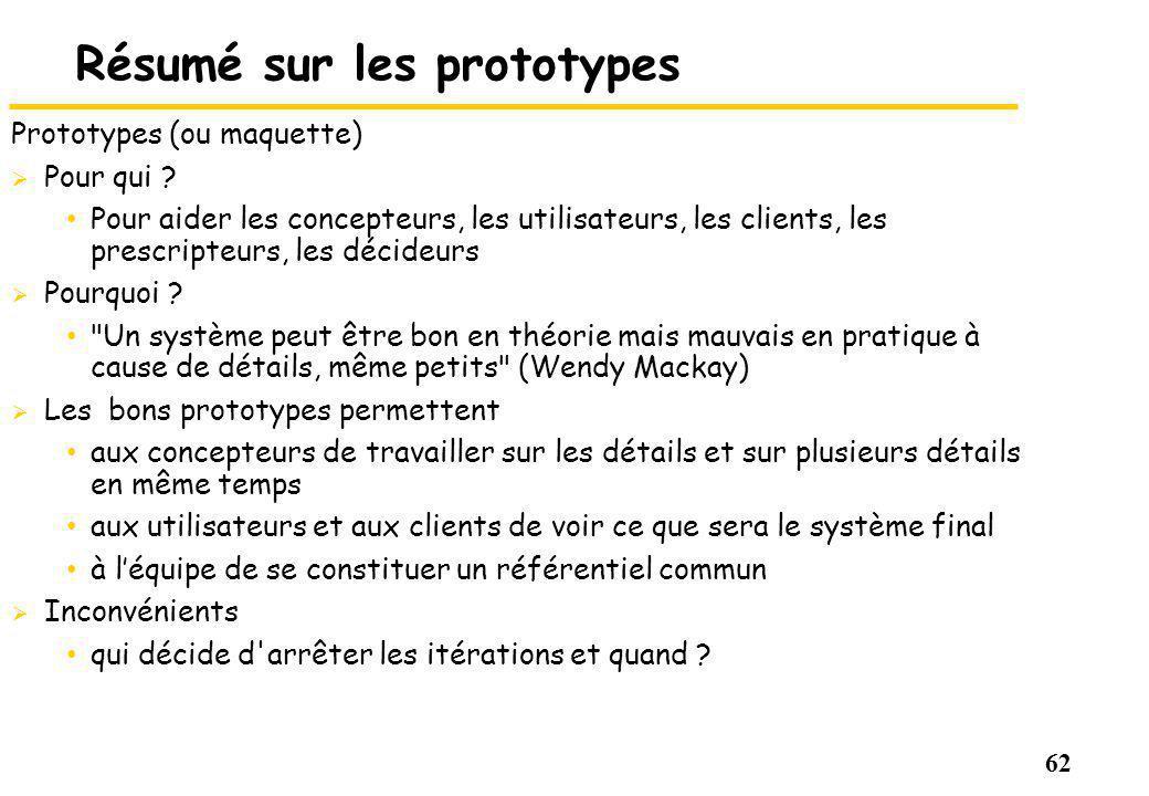 Résumé sur les prototypes