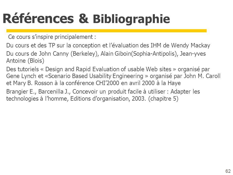 Références & Bibliographie