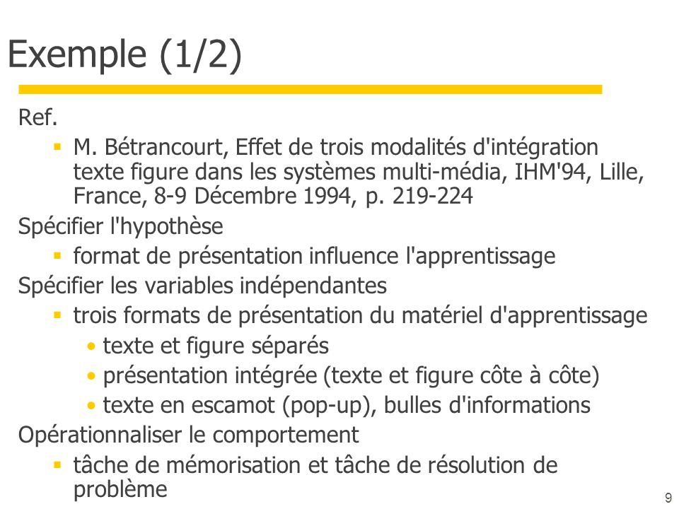 Exemple (1/2) Ref.
