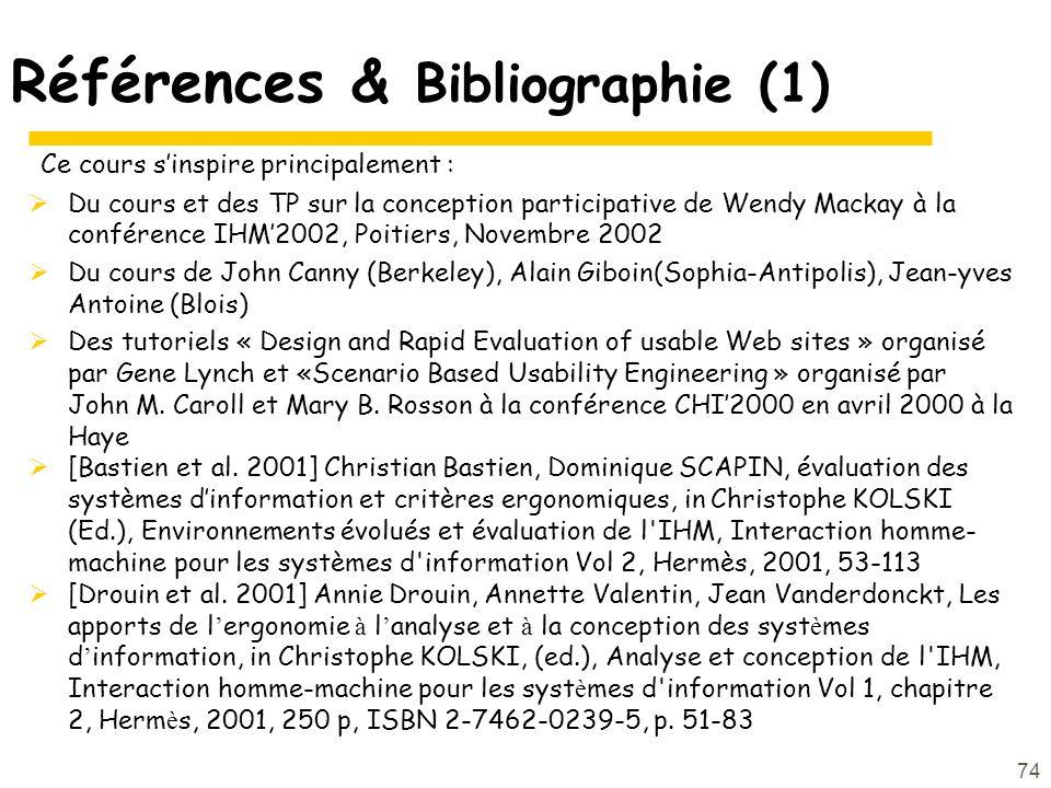 Références & Bibliographie (1)
