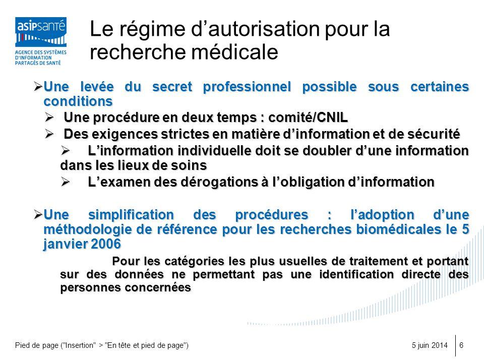 Le régime d'autorisation pour la recherche médicale