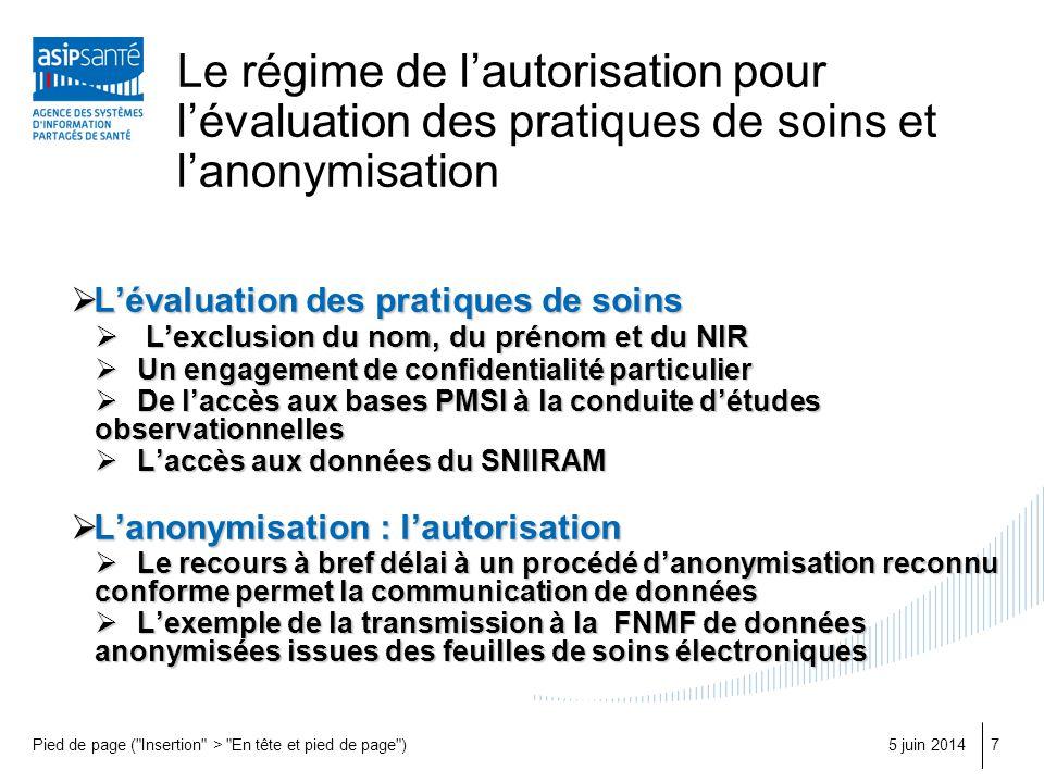 Le régime de l'autorisation pour l'évaluation des pratiques de soins et l'anonymisation