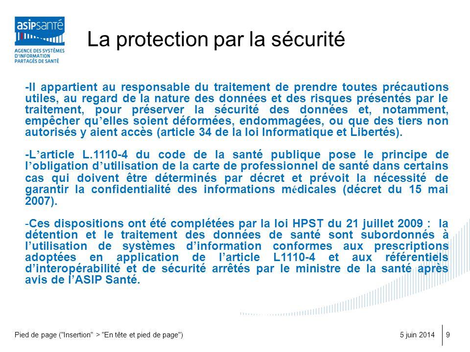 La protection par la sécurité