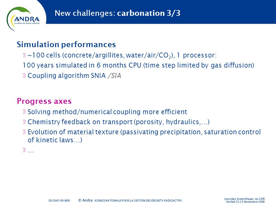 New challenges: carbonation 3/3