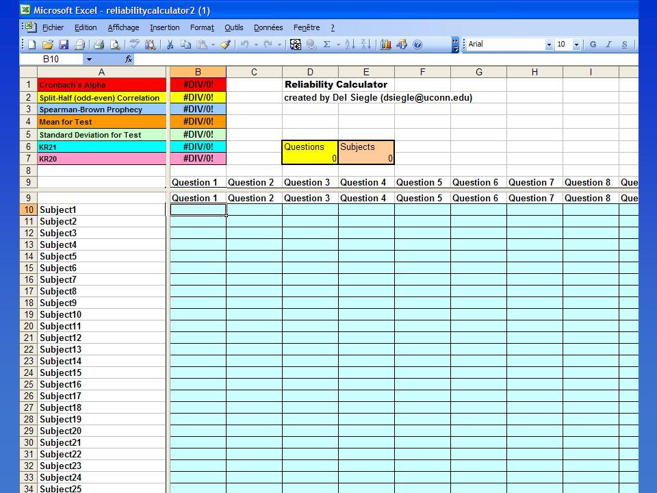 Un exemple d'un outil gratuit, disponible sur le net qui effectue quelques opérations de base dans la validation de tests.