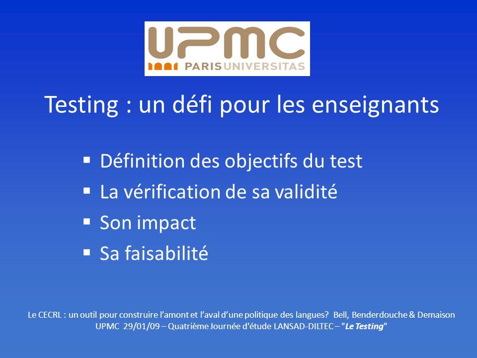 Testing : un défi pour les enseignants