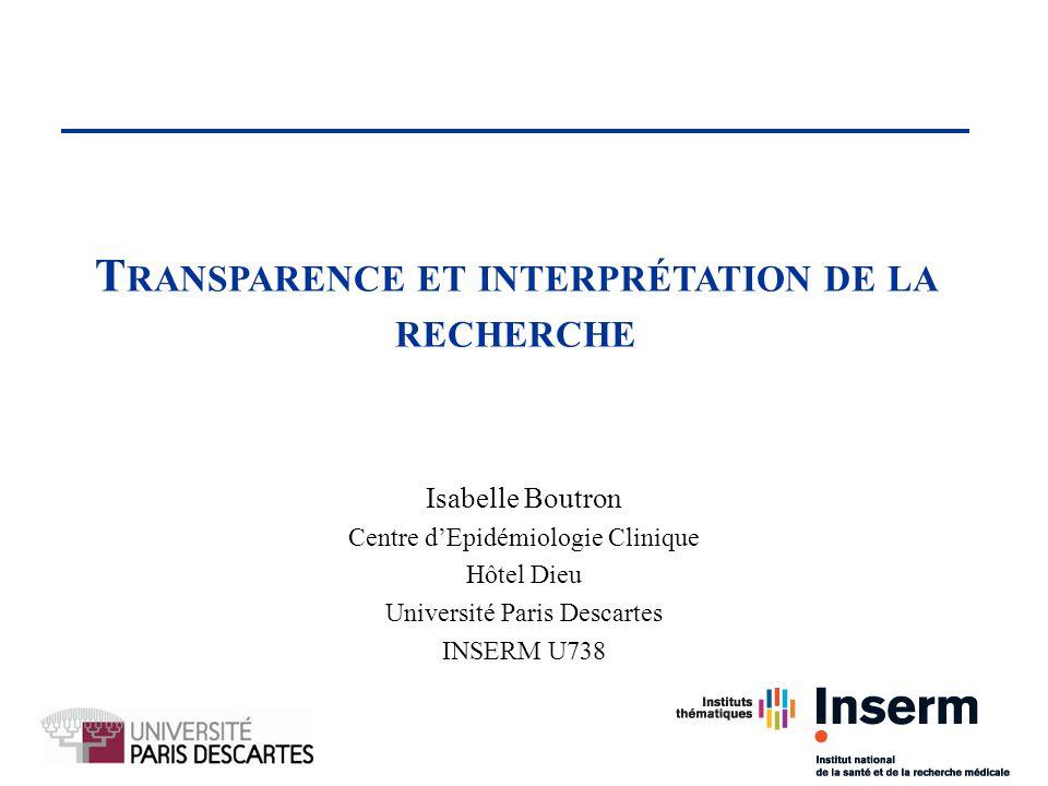 Transparence et interprétation de la recherche