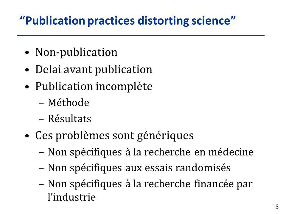 Publication practices distorting science