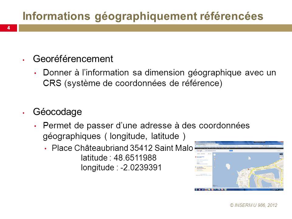 Informations géographiquement référencées