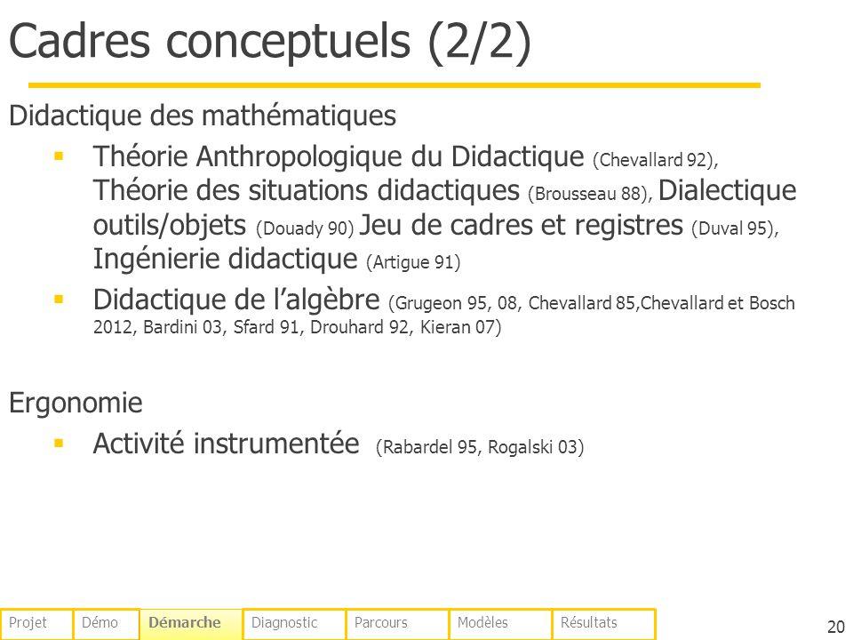 Cadres conceptuels (2/2)