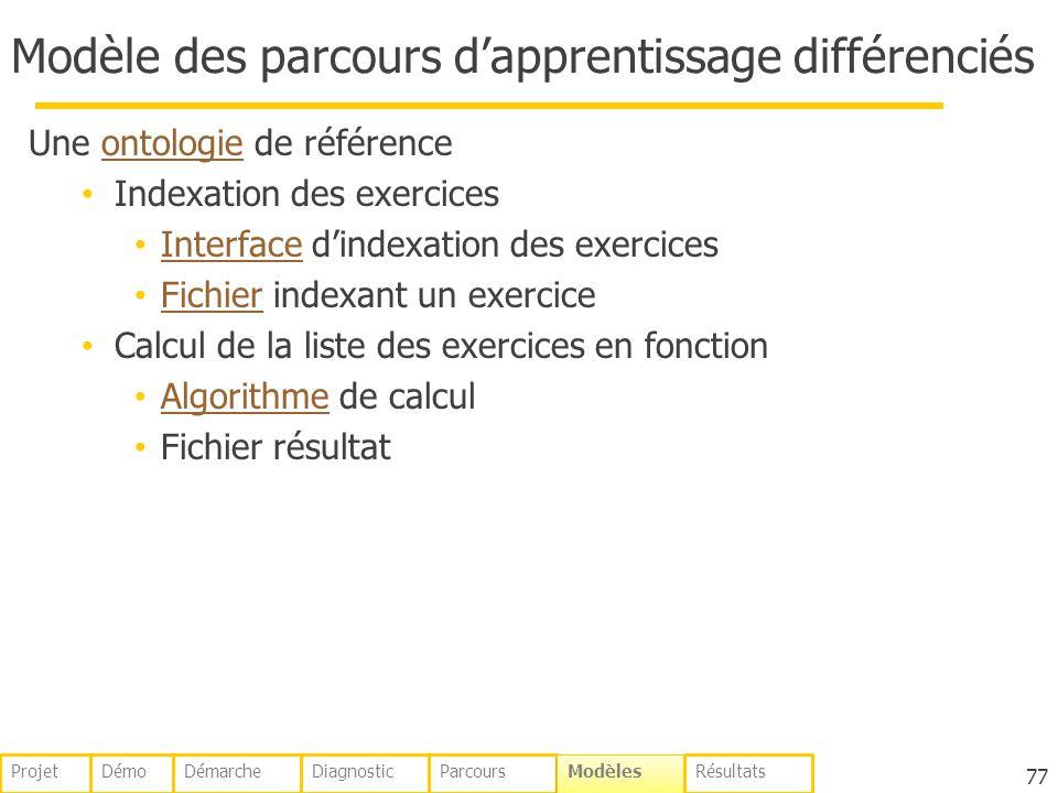 Modèle des parcours d'apprentissage différenciés