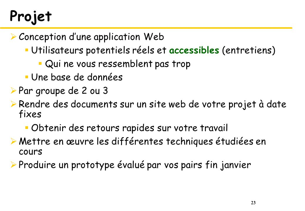 Projet Conception d'une application Web