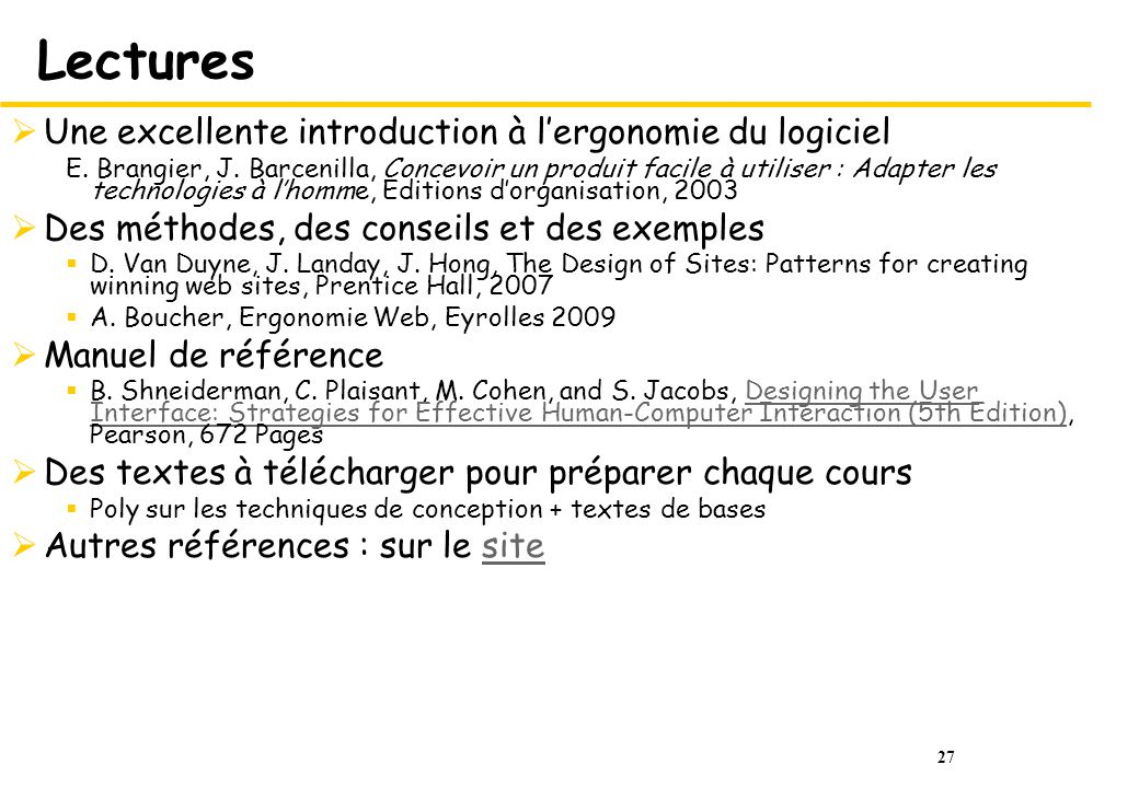 Lectures Une excellente introduction à l'ergonomie du logiciel