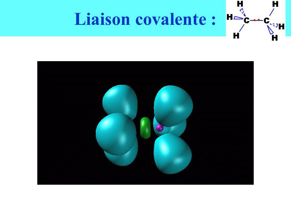 Liaison covalente :