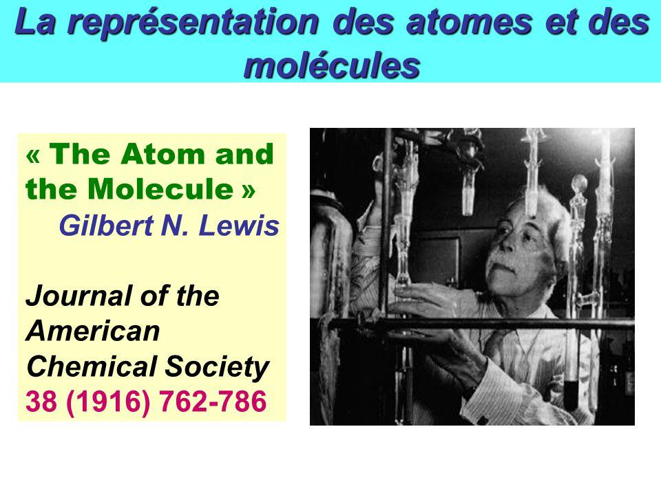 La représentation des atomes et des molécules