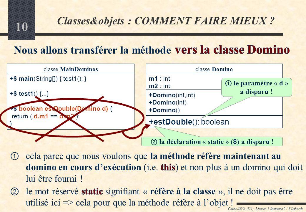 Classes&objets : COMMENT FAIRE MIEUX