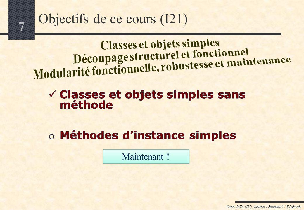 Objectifs de ce cours (I21)