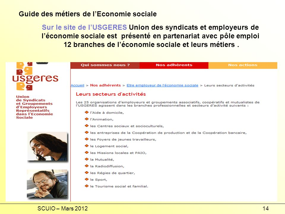 Guide des métiers de l'Economie sociale