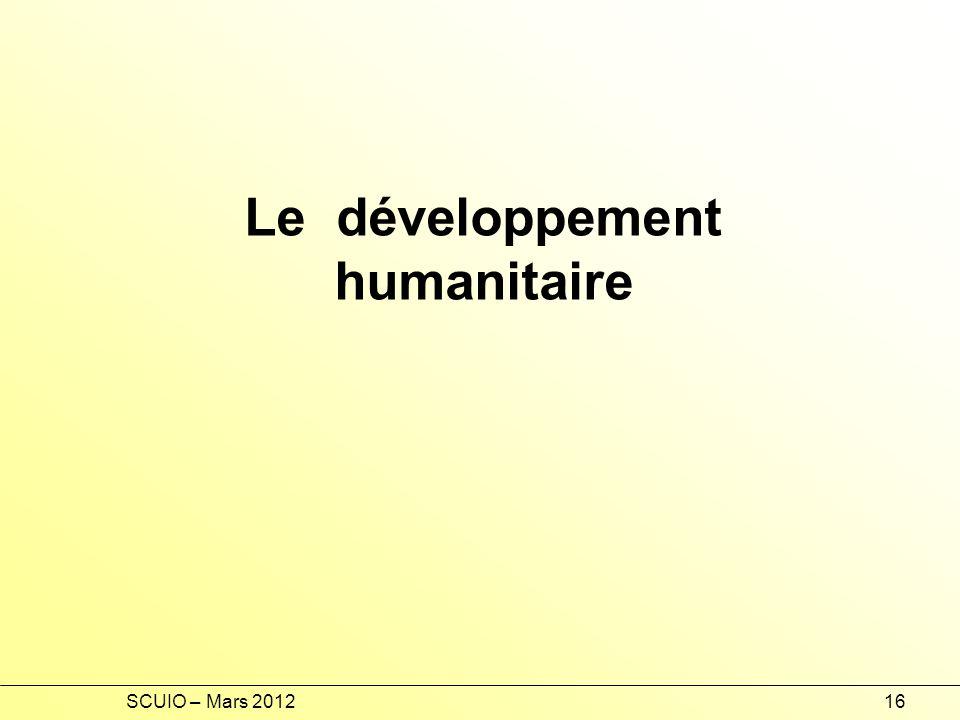 Le développement humanitaire