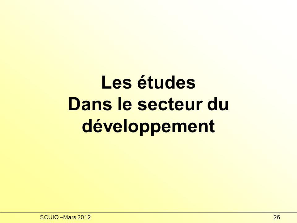 Dans le secteur du développement