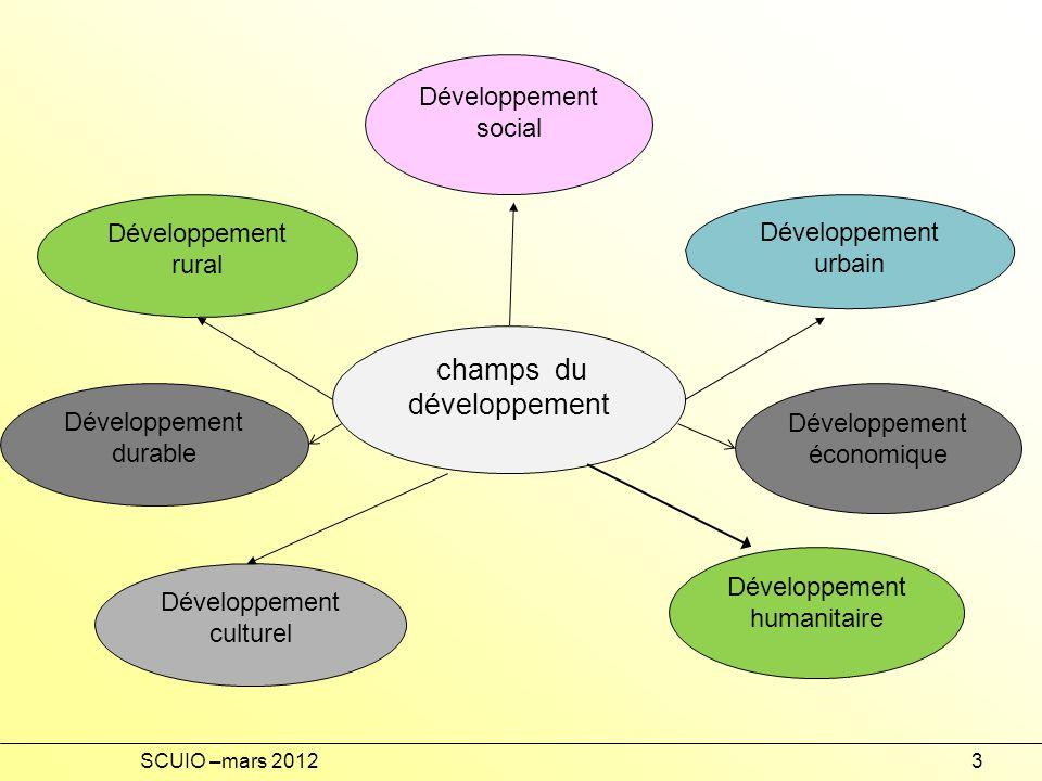 champs du développement