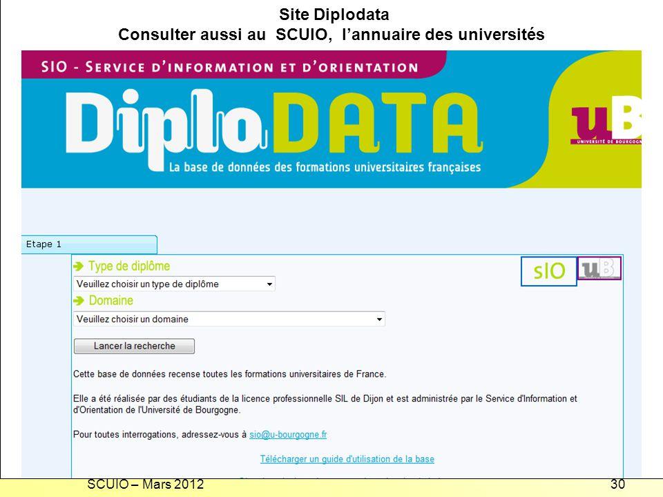 Recherche d'une formation universitaire en France Site Diplodata
